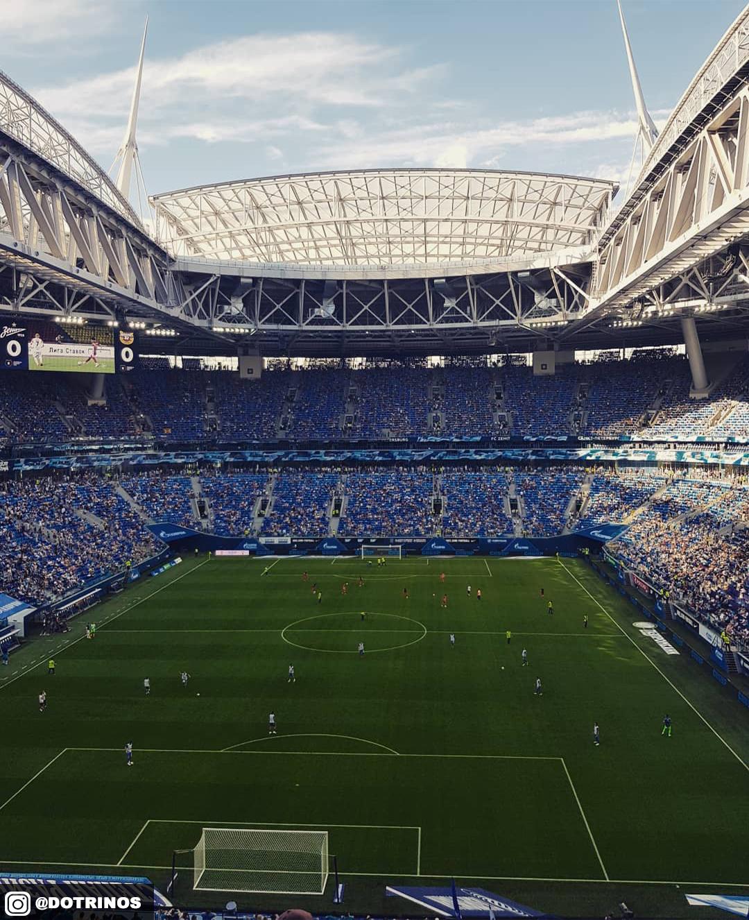 Эффектные фото одного из самых дорогих стадионов мира. «Газпром Арена»