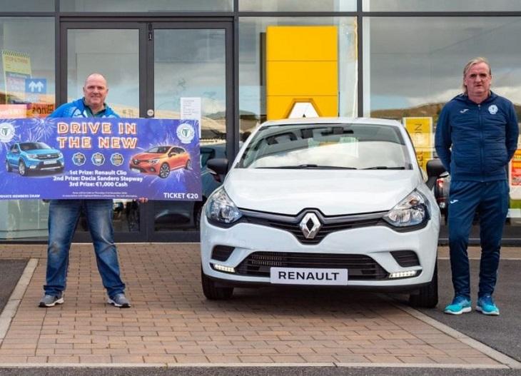 Ирландский клуб устроил лотерею с розыгрышем авто. Машину выиграл гендиректор команды-конкурента