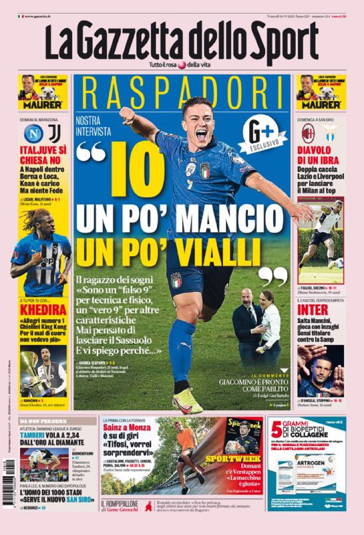 Аллегри обнажён. Заголовки Gazzetta, TuttoSport и Corriere за 10 сентября