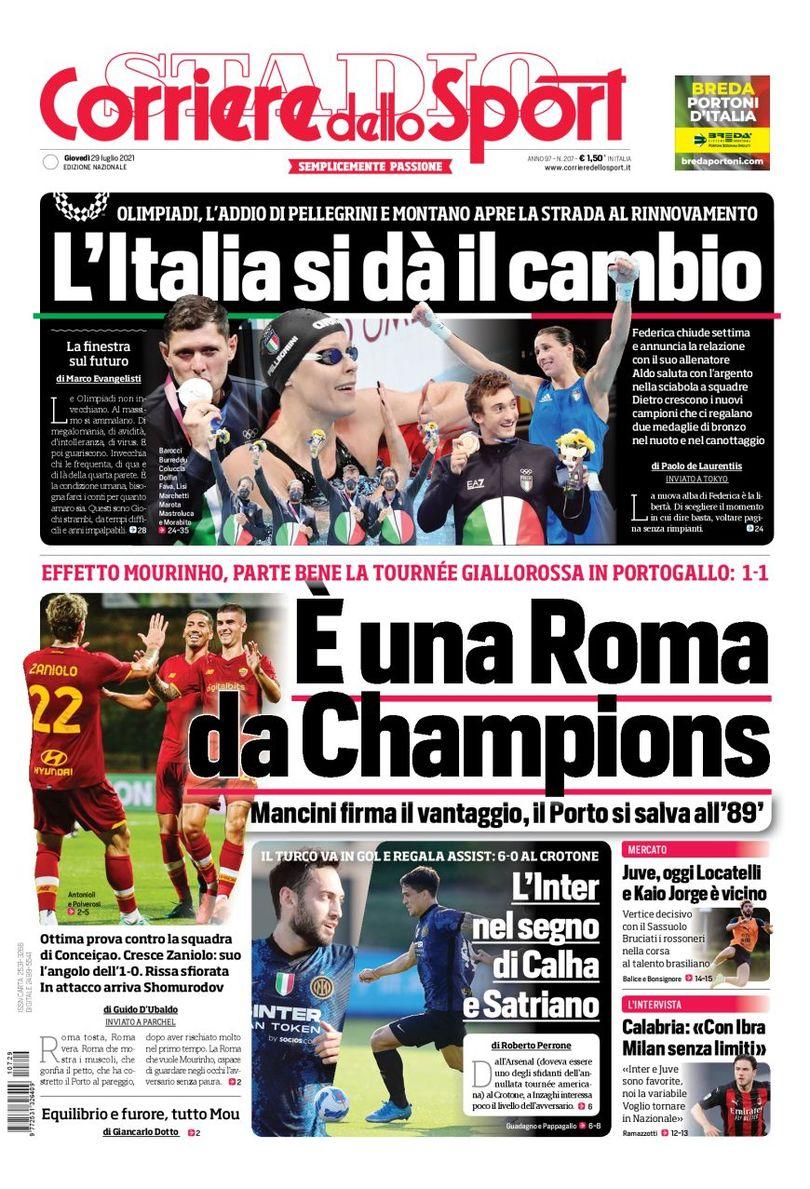 Хет-трик «Юве». Заголовки Gazzetta, TuttoSport и Corriere за 29 июля