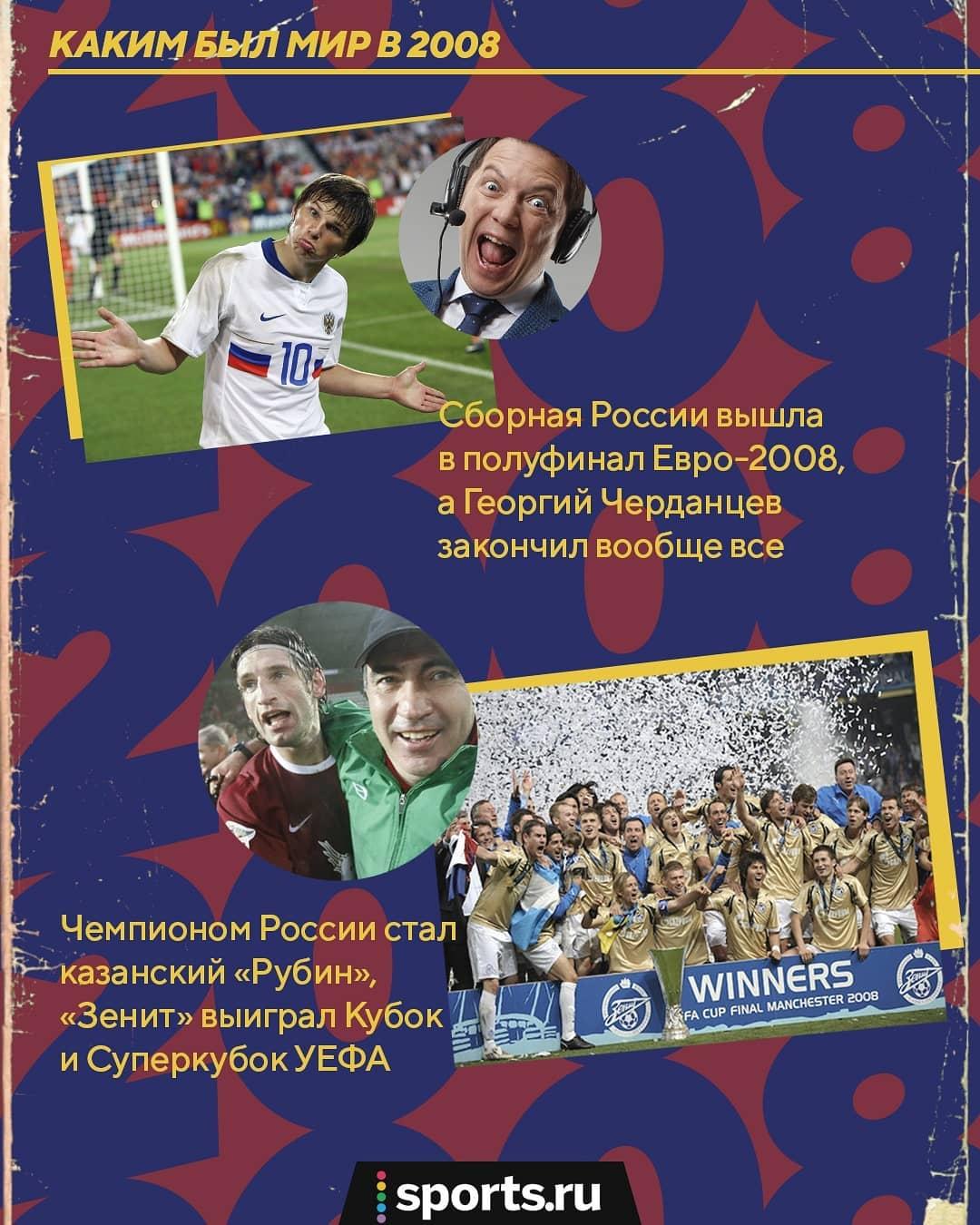 Победа «Зенита» в Кубке УЕФА, Билан – первый на «Евровидении» а Черданцев закончил вообще все! Каким был мир в 2008-м?