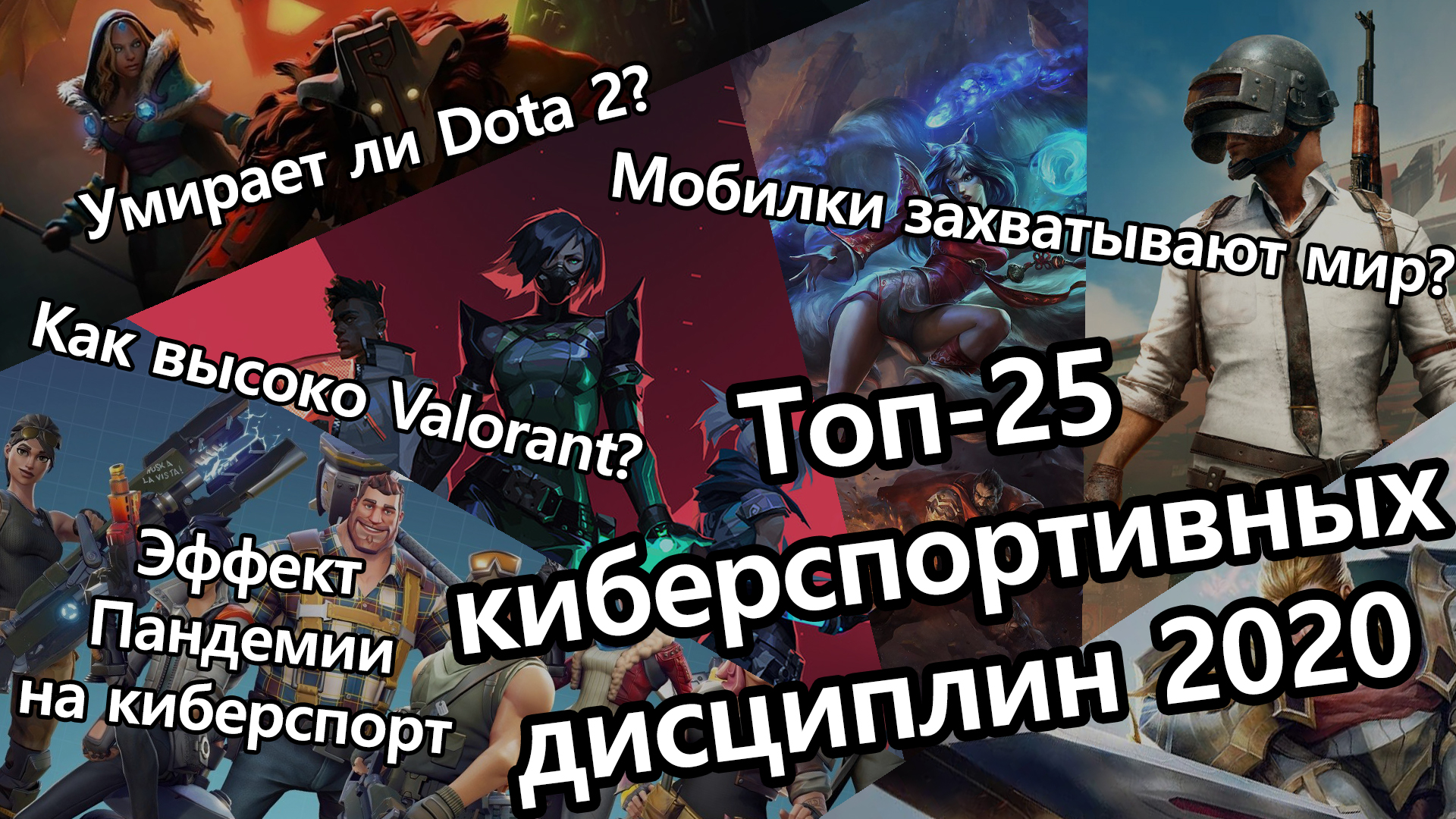 PUBG Mobile, PUBG, Call of Duty: Warzone, League of Legends, Counter-Strike: Global Offensive, Arena of Valor, Dota 2, Free Fire, Fortnite, Valorant