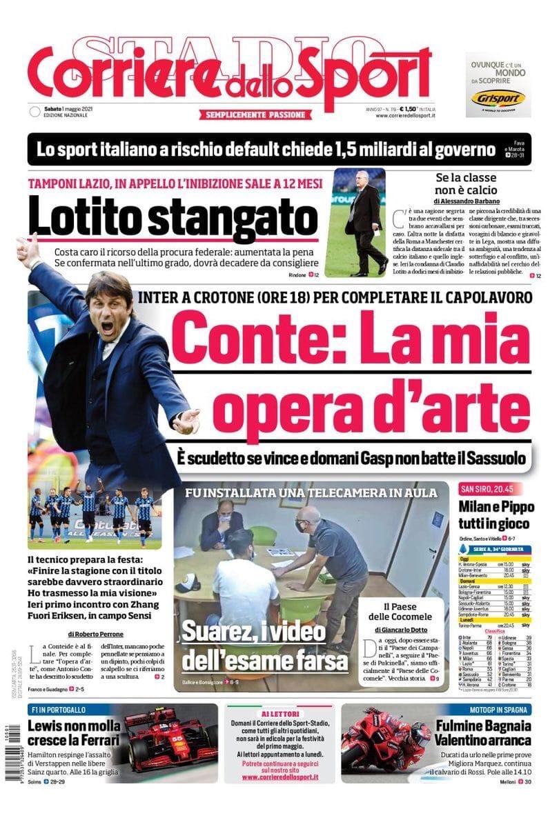 «Интер» хочет сказать 19. Заголовки Gazzetta, TuttoSport и Corriere за 1 мая